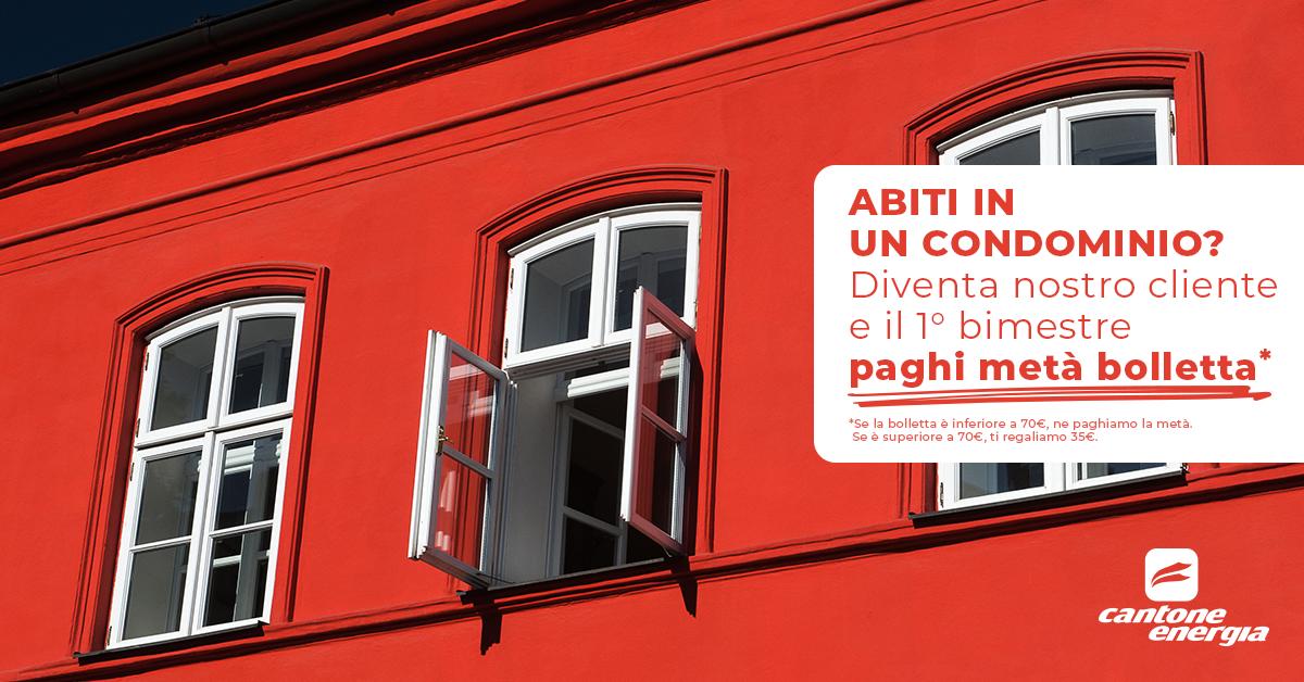 Abiti in un Condominio? Diventa cliente Cantone e scegli l'energia del nostro GPL