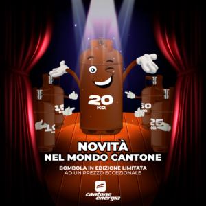 Una super novità nel Mondo Cantone, la Bombola da 20Kg mai vista prima!